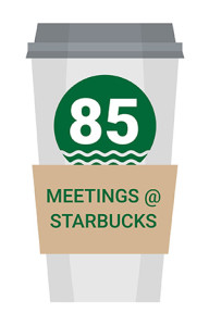64 Client Sales meetings at Starbucks