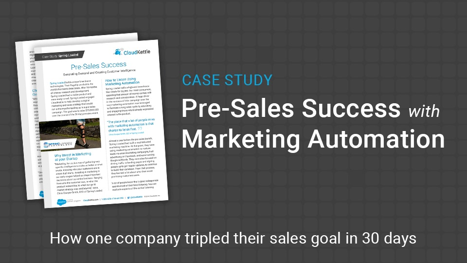 Spring Loaded Case Study: Pre-Sales Success with Marketing Automation