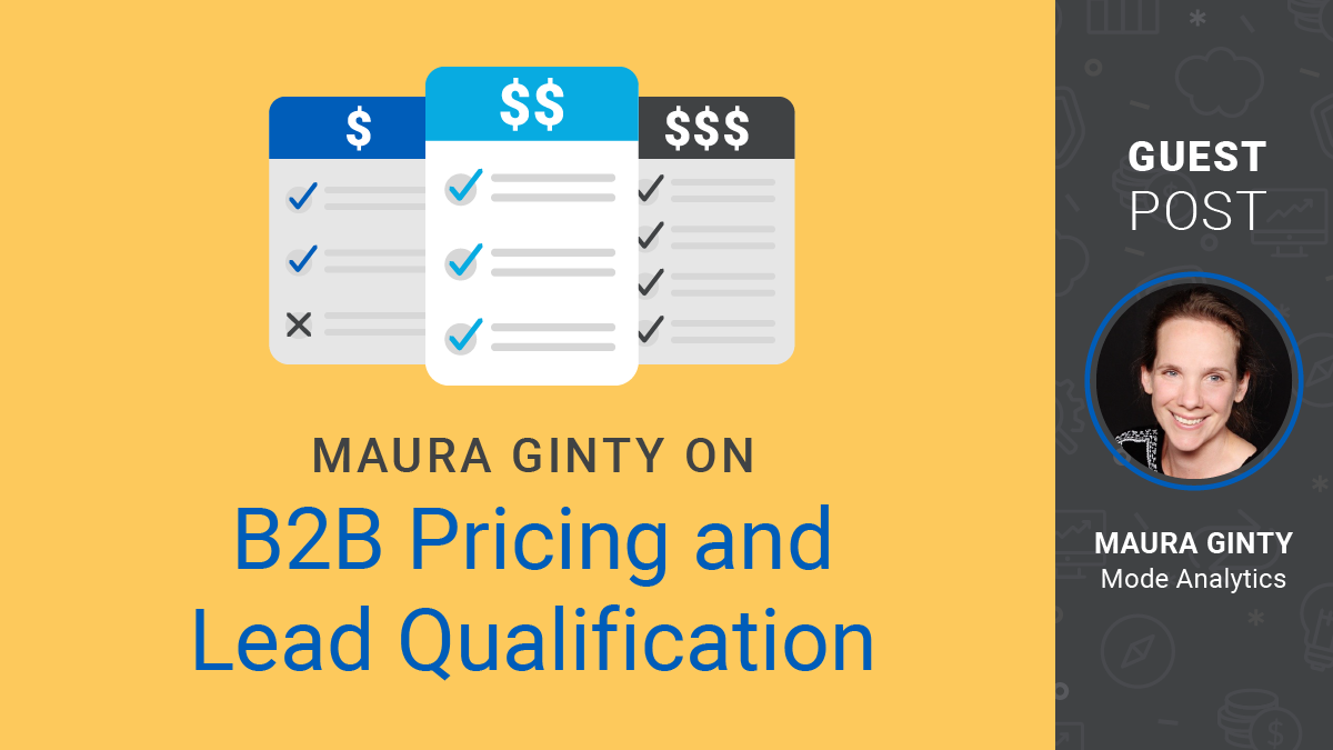 Maura Ginty on B2B Pricing and Lead Qualification