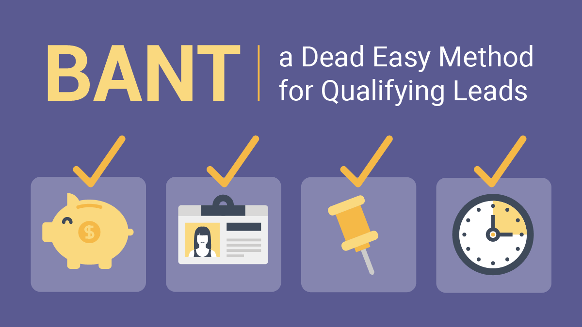 BANT: A Dead Easy Method for Qualifying Leads
