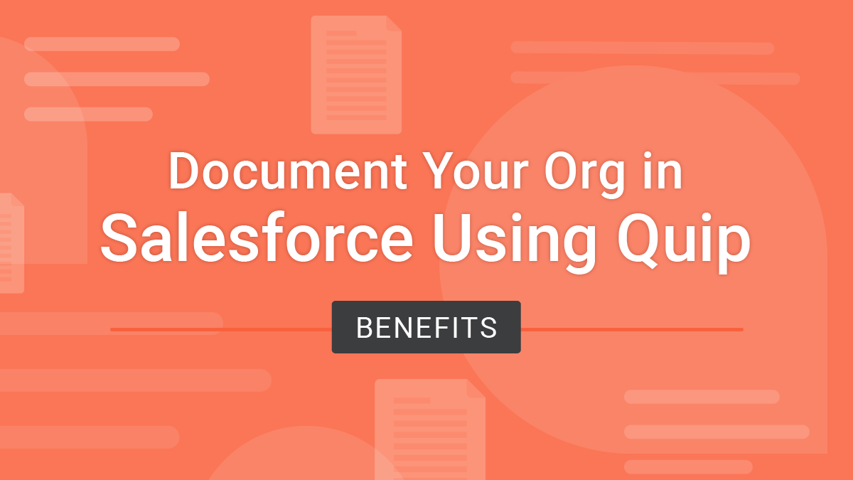 how to document your salesforce org