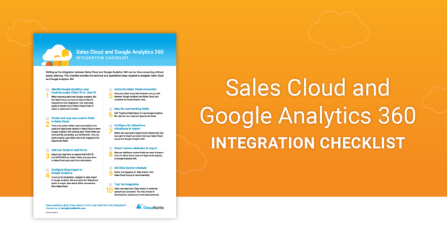 Sales Cloud and Google Analytics 360 Integration Checklist