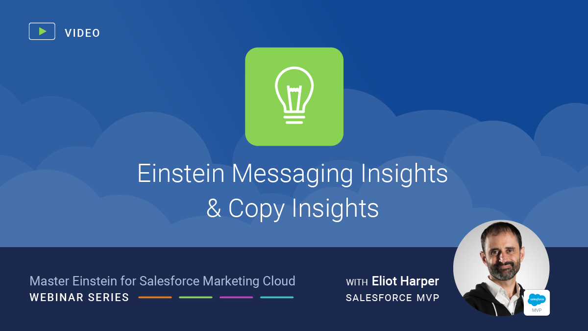 Einstein Messaging Insights and Einstein Copy Insights for Salesforce Marketing Cloud
