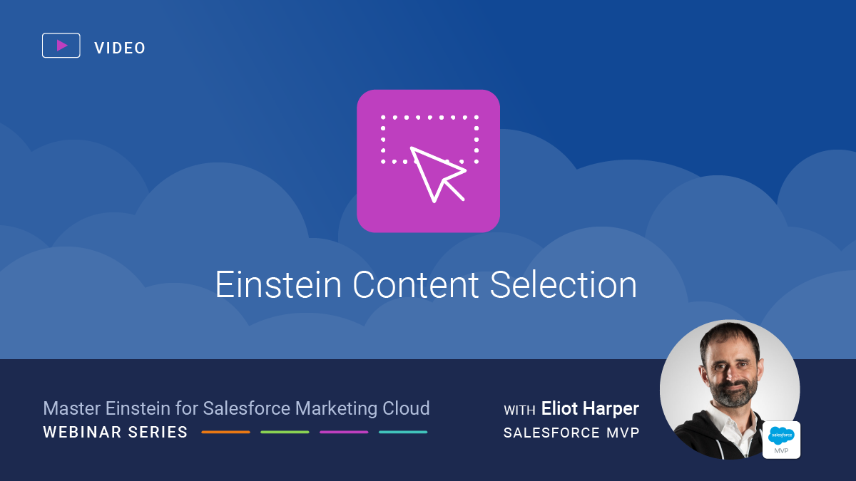 Einstein Content Selection for Salesforce Marketing Cloud