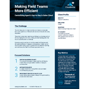 Case Study on Field Teams with Salesforce
